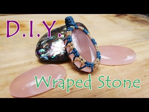 how-to-make-wrapped-stones-with-cotton-waxed-thread