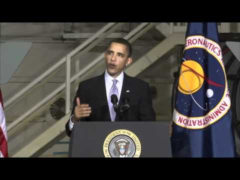 Barack Obama Proposes a New Course for NASA, Kennedy Space Center, April 15, 2010