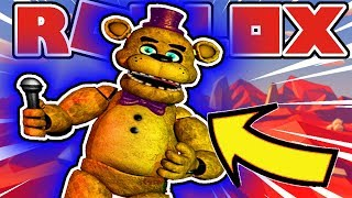 Finding Lost Fred Bear Badge and Lost Narrator Scary Story in Roblox Fredbear's World of Fantasy