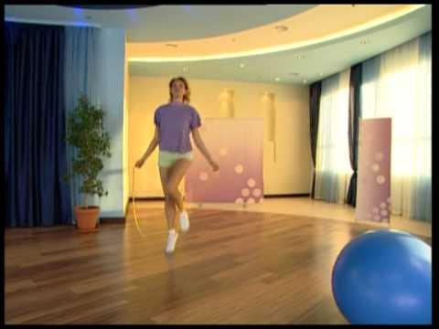 Упражнения со скакалкой от Екатерины Серебрянской - YouTube