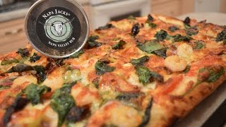 How to Cook Shrimp, Capocolla, Pepper & Spinach Pizza with Napa Valley Crust: Cooking with Kimberly