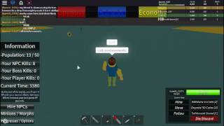 Roblox noobs vs zombies tycoon remake Weapon Showcase Ban Hammer
