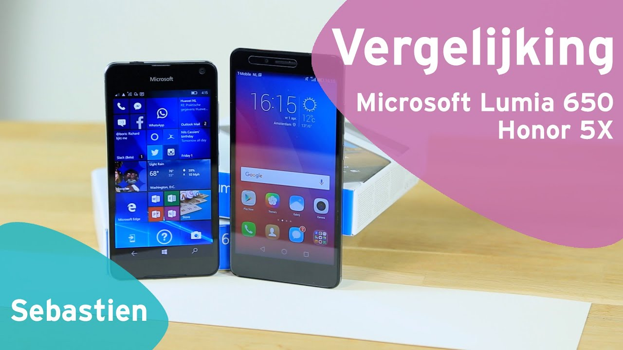 0f147f0ba3b4c1 Honor 5X vs Microsoft Lumia 650 review (Dutch) - YouTube
