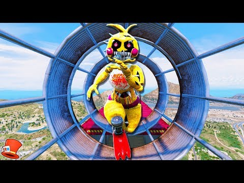 ULTIMATE NIGHTMARE TOY ANIMATRONIC DEATHRUN! (GTA 5 Mods For Kids FNAF Funny Moments)