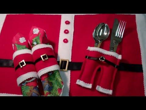 Part 3 Nikolaus Hose für Besteck Weihnachtstisch Deko - Lilo Siegel