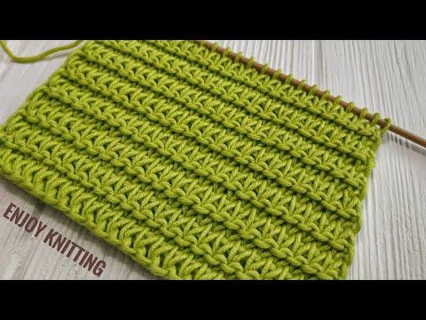 КРАСИВЫЙ и ПРОСТОЙ Узор спицами  Узор #54  Easy Relief knitting stitch pattern