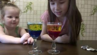 Опыты с детьми ! Волшебные гейзеры ))) Experiments with children ! Magical geysers )))