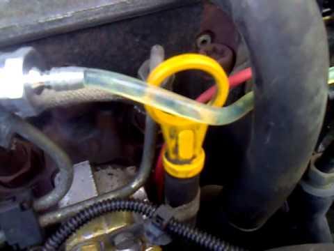 Ford Escort - air in diesel fuel line