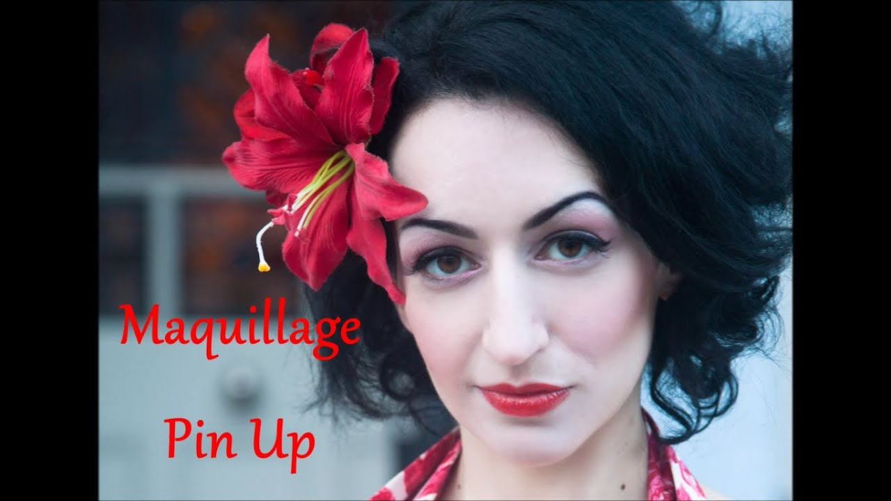 maquillage pin up avec oriana curls youtube. Black Bedroom Furniture Sets. Home Design Ideas