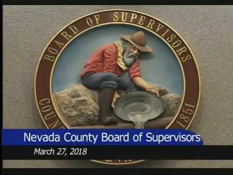 Nevada County BOS March 27, 2018