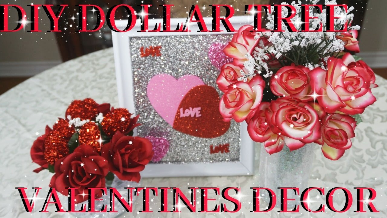 Diy Dollar Tree Valentines Decor 2017 Petalisbless Youtube
