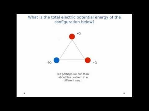 Electric Potential Energy - Charges on a Triangle