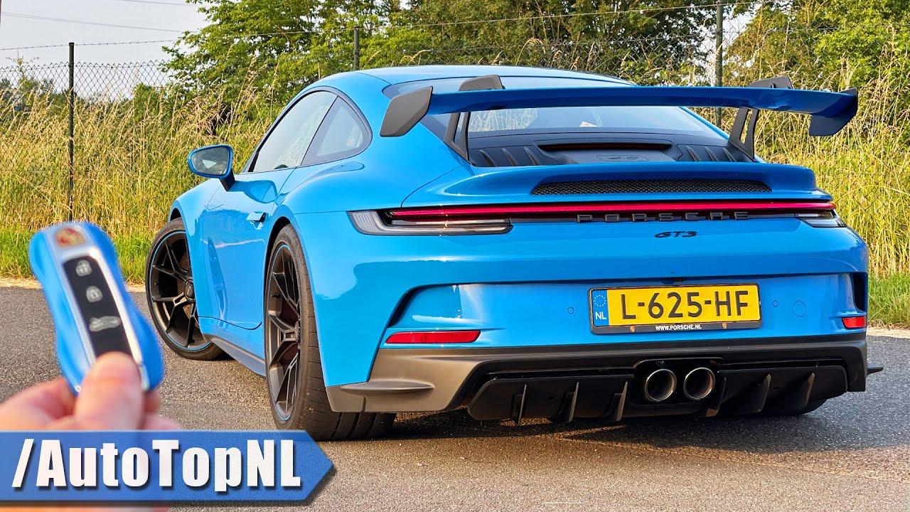 PORSCHE 911 992 GT3 REVIEW on AUTOBAHN [NO SPEED LIMIT] by AutoTopNL