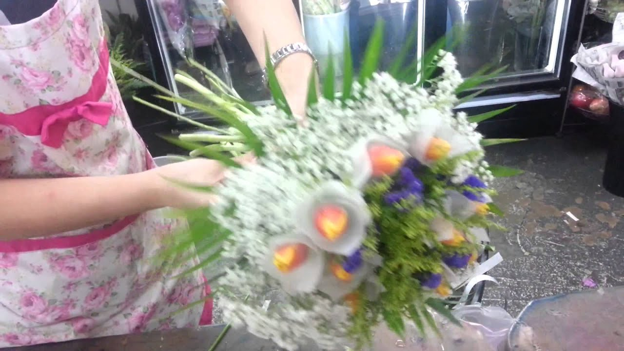 how to make hand bouquet