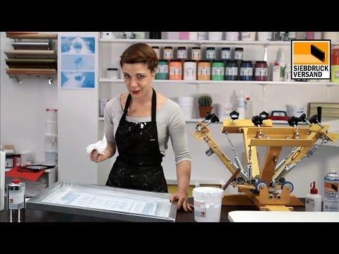 siebdruckrahmen von plastisolfarbe reinigen ink remover siebreiniger youtube. Black Bedroom Furniture Sets. Home Design Ideas