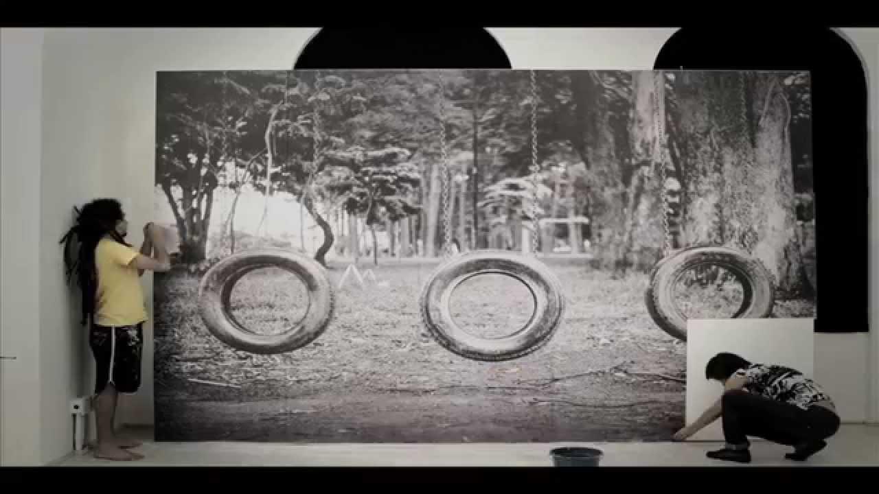 """Montagem da exposição """"Fragmentos"""" - Alan Oju @ Coletivo Ágata"""