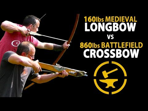 Medieval Warbow vs Windlass Crossbow - Speed, Accuracy