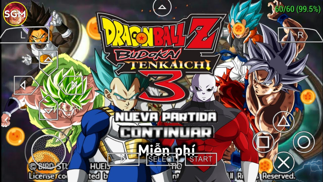 Cách tải game DRAGON BALL Z TENKENCHI TAG TEAM MOD SUPER BROLY V.15