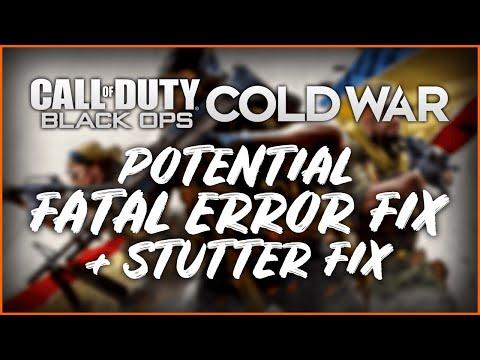 Call Of Duty: Black Ops - Cold War PC Beta FATAL ERROR + STUTTER FIX!