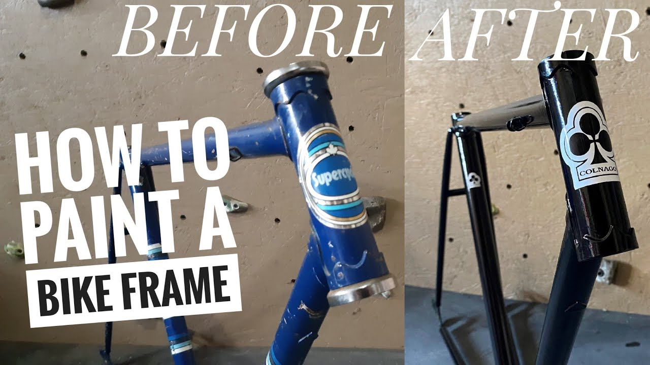 how to spray paint a fixie frame