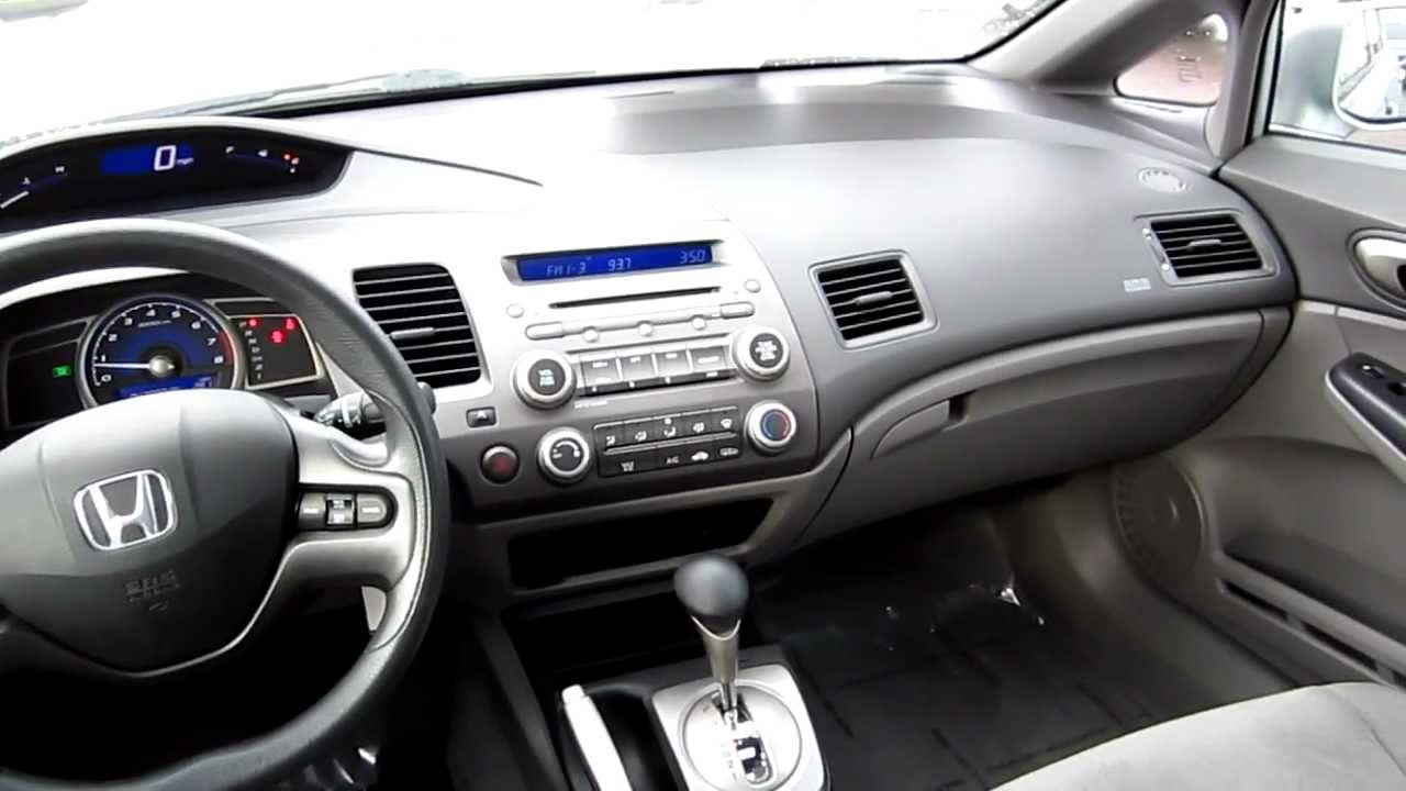 Charming 2008 Honda Civic LX, Silver Stock# B2071   Interior