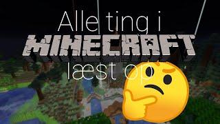 Læser alle items i Minecraft op på dansk