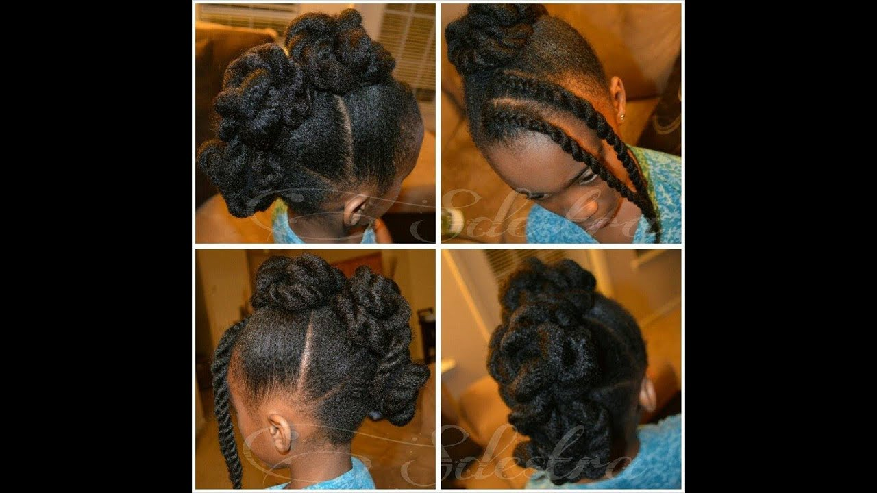 Twisted Frohawk On Natural Hair No Heat Children S
