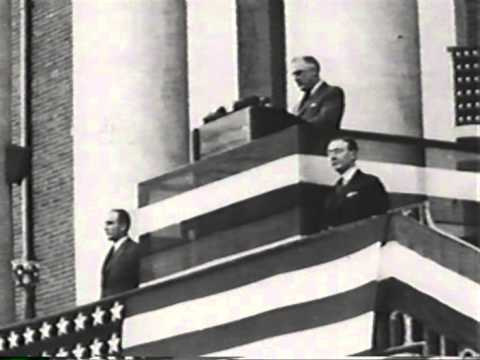 President Roosevelt dedicates the National Institute of Health October 31, 1940, (produced) 1991