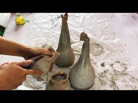 DIY (3 tips) - ❤️ Cement craft ideas ❤️ - cloth and cement