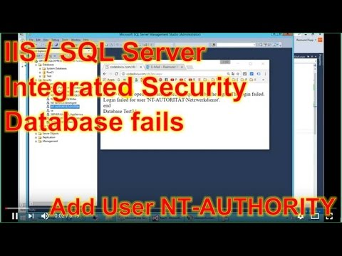 IIS/SQL-Server Error: Login failed for NT Authority Networks