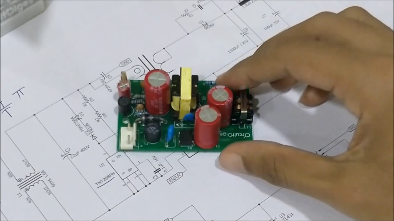 How to Build a 12V, 15W SMPS Circuit on PCB - YouTube