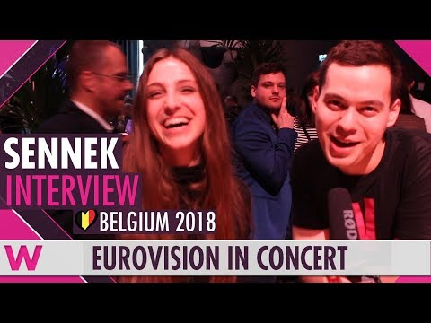 Sennek (Belgium 2018) Interview | Eurovision in Concert 2018