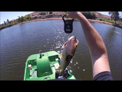Santee Lakes Bass Fishing 7 27 17