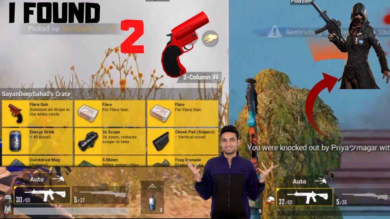 I Got 2 Flare Gun In Pubg Mobile Erangel Map Pro Girl Priya Knocked Me Can I Survive