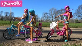 Barbie Story: Barbie First Day of Spring Bike Ride Picnic with Lost Puppy and Barbie Animal Hospital