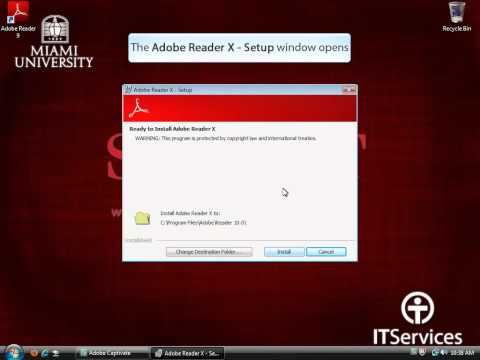 Installing Adobe Reader In Windows Vista