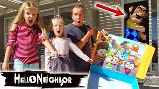 Hello Neighbor in Real Life Locks Us Out and Steals Our Top Wing Toys! Toy Scavenger Hunt!