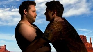 Repeat youtube video Seth Rogen & James Franco Making Out -  Bound 3 (Spoof)