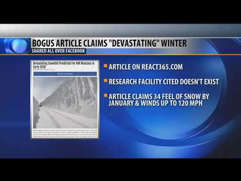 "Fake article claims that Montana will have a ""devastating"" winter"