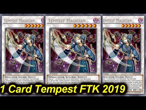 【YGOPRO】1 CARD TEMPEST MAGICIAN FTK JULY 2019