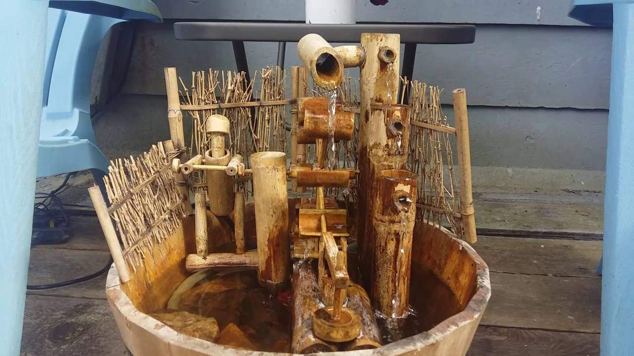 Japanese Fountain Water Wheel Man Youtube