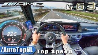 MERCEDES-AMG G63 4.0 V8 BiTurbo 226km/h AUTOBAHN POV TOP SPEED by AutoTopNL
