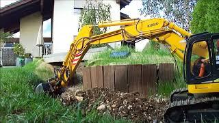 Kobelco SK270SR 1:15 Building new road