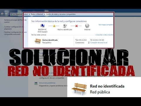 Tutorial PC - Solucionar red no identificada en Windows 7