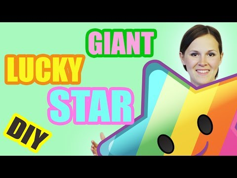 DIY GIANT LUCKY STAR EASY ORIGAMI PAPER TUTORIAL