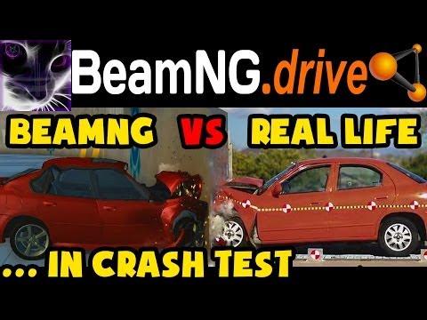 BeamNG drive vs Real Life - Car Crash Testing (Game vs Real) #1