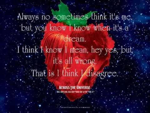 Strawberry Fields Forever  Jim Sturgess and Joe Anderson {Lyrics}