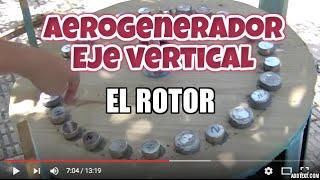Aerogenerador de eje vertical (III). El Rotor. VAWT. The Rotor