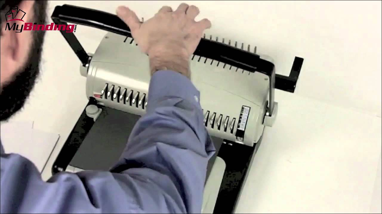 How To Use A Comb Binding Machine Youtube