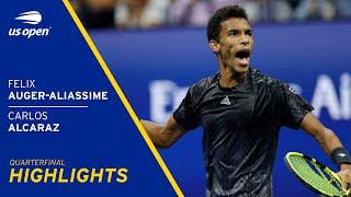 Felix Auger-Aliassime vs Carlos Alcaraz Highlights | 2021 US Open Quarterfinal
